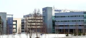 Nokian ja Microsoftin entisiä tiloja Oulussa.