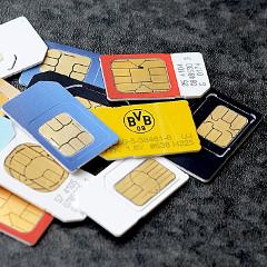 SIM-kortteja
