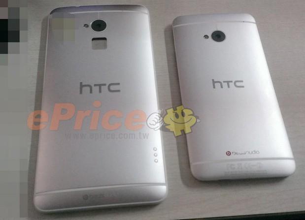 HTC One Max nykyisen Onen rinnalla - huomaa sormenjälkilukija kameran alapuolella