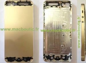 iPhone 5S:n väitetty kultainen runko ja kuori Macabouticin julkaisemissa kuvissa