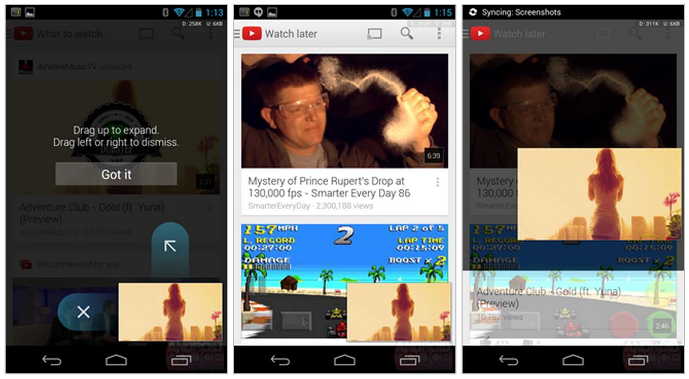 Kuvankaappauksia YouTuben 5.0-versiosta