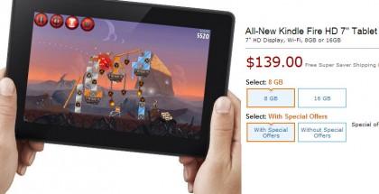 Amazon myy jo omia Kindle Fire -tablettejaan