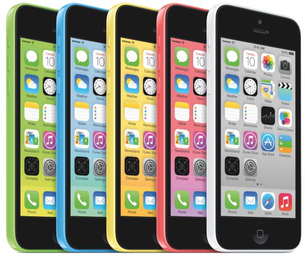 Apple iPhone 5c oli värikäs tapaus.