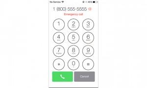 iOS 7:n hätäpuhelunäkymä