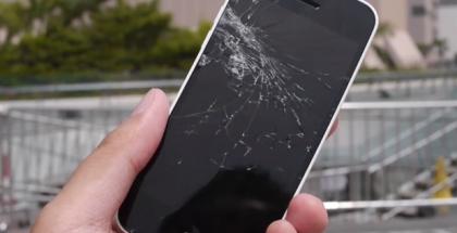 iphone 5c pudotus testi