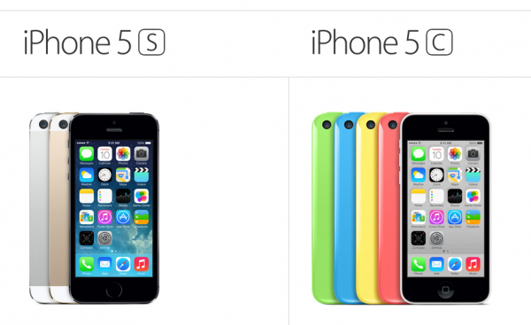 iPhone 5s ja iPhone 5c