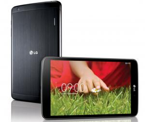 LG G Pad 8.3 mustana edestä ja takaa