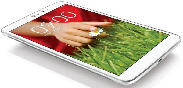 LG G Pad 8.3 valkoisena