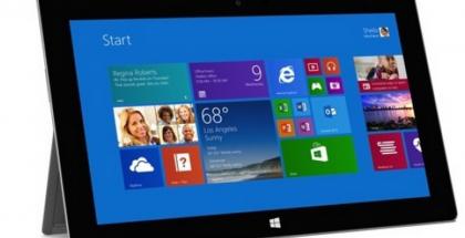 Nykyinen Microsoft Surface 2 edestä