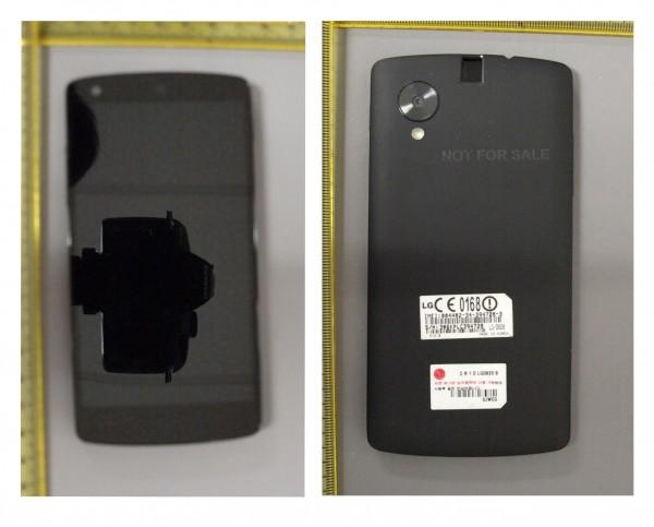 Nexus 5 FCC:n kuvissa