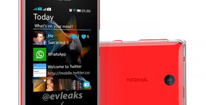 Nokia Asha 500 @evleaksin aiemmin julkaisemassa lehdistökuvassa
