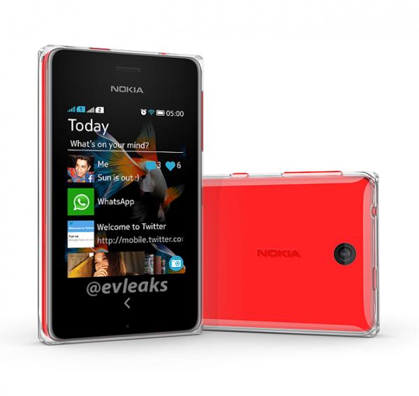 Nokia Asha 500 @evleaksin julkaisemassa kuvassa