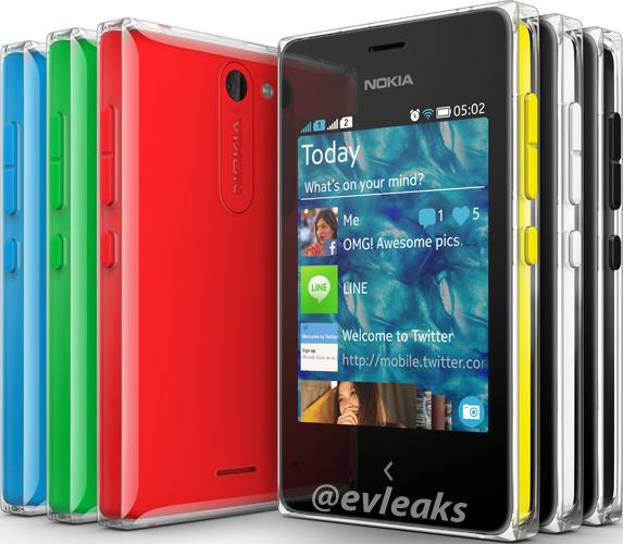 Nokia Asha 502 @evleaksin vuotamassa lehdistökuvassa
