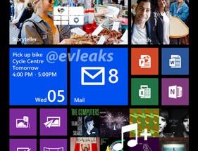 Nokia Banditin eli Lumia 1520:n aiempaa laajempi aloitusnäkymä