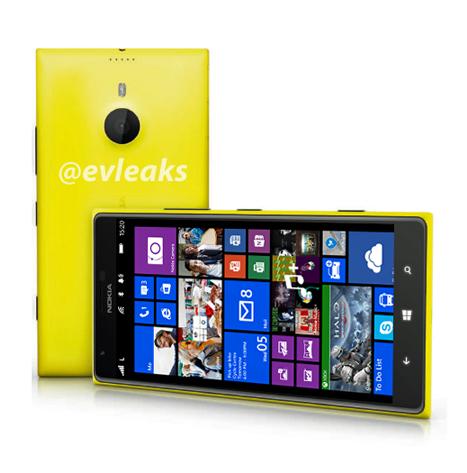 Nokia Lumia 1520 @evleaksin aiemmin julkaisemassa kuvassa