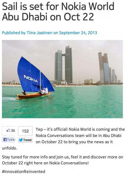 Nokia Wolrd Sailing
