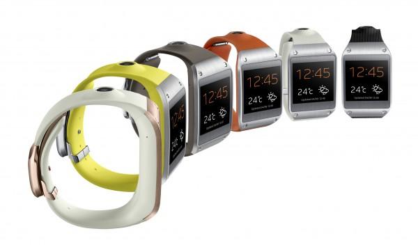Samsung Galaxy Gear eri väreissä