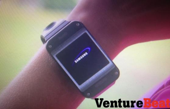 Samsungin älykello VentureBeatin julkaisemassa kuvassa