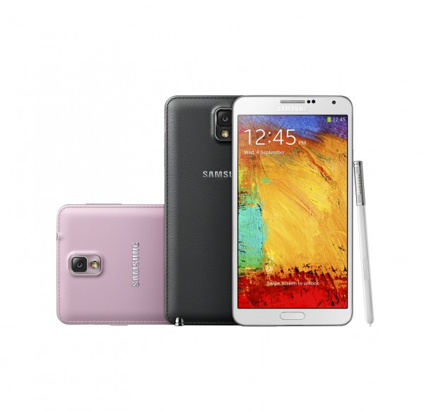 Samsung Galaxy Note 3 eri värivaihtoehtoina