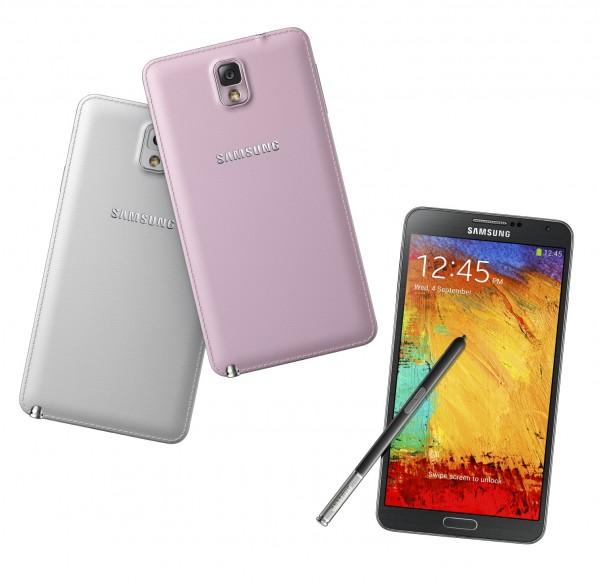 Samsung Galaxy Note 3 eri väreinä
