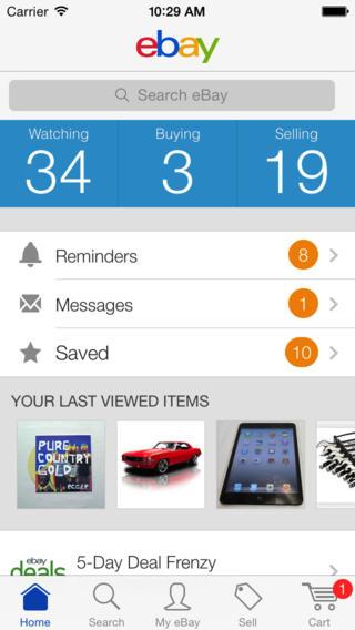ebay iOS 7