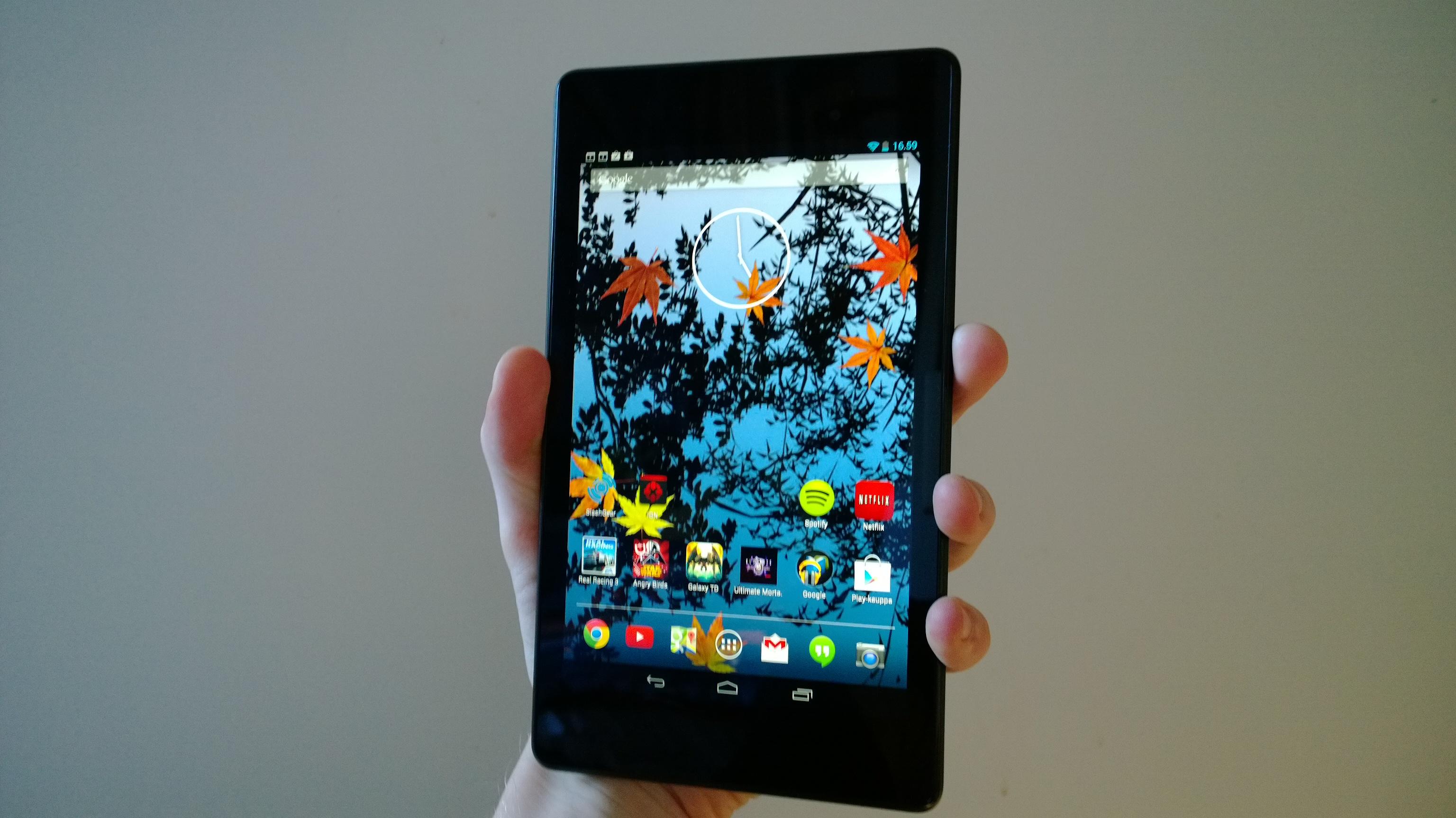 Nexus 7 edestä