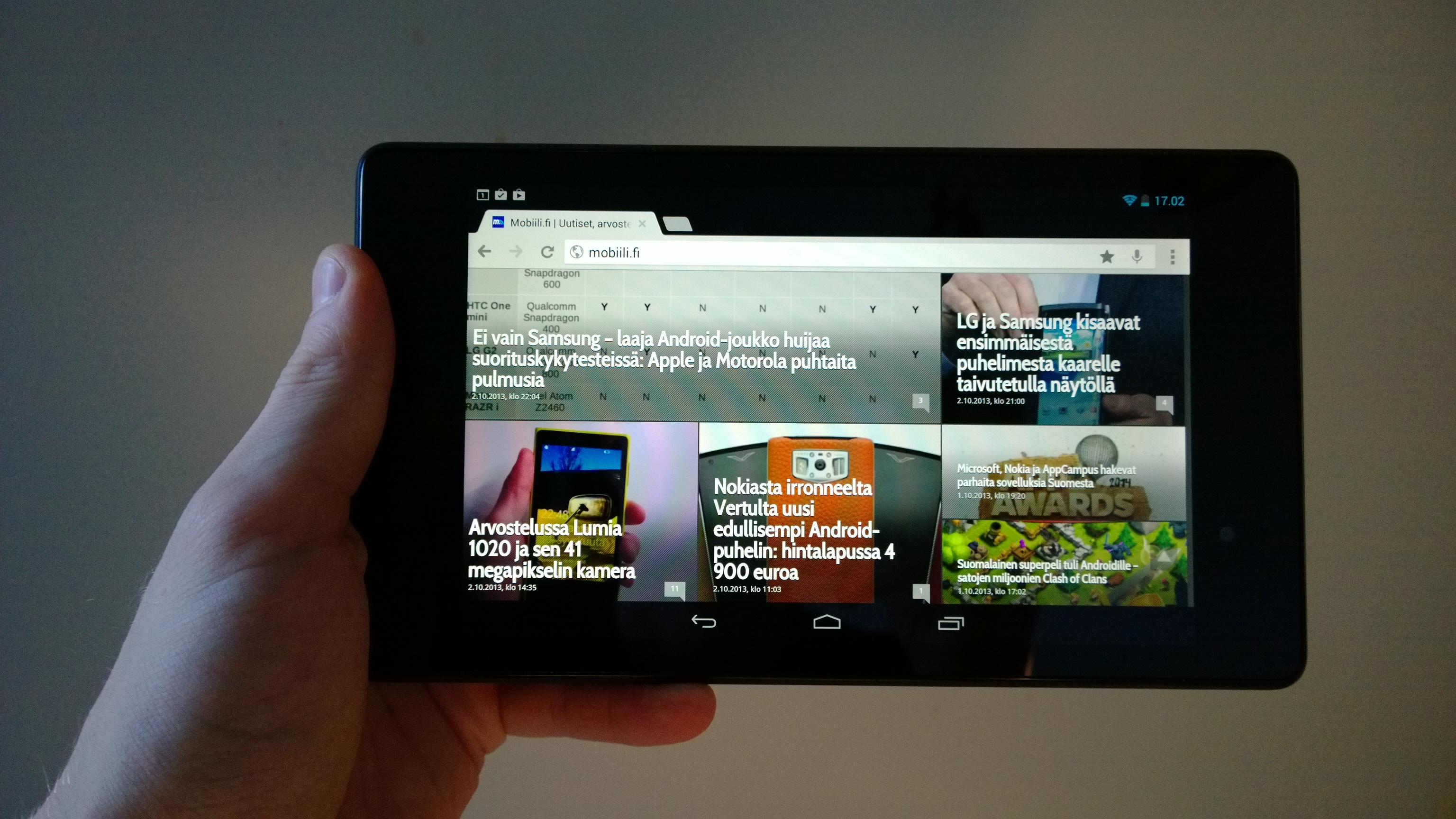 Nexus 7 maisema