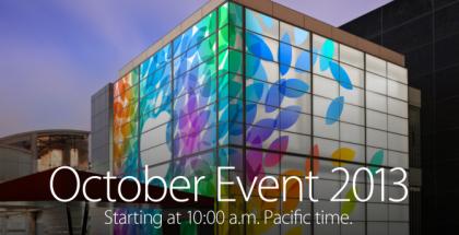 Applen tilaisuus 22. lokakuuta 2013