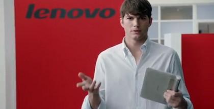 Ashton Kutcher on Lenovo-mies
