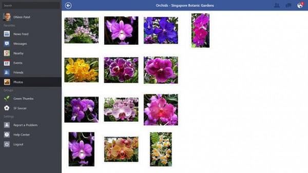 Kuva-albumi Windows 8.1:n Facebookissa