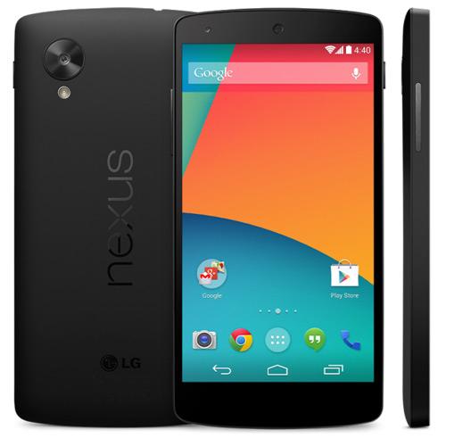 Nexus 5 Googlen virallisessa kuvassa