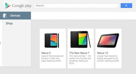 Nexus 5 Google Play -kaupan valikoimissa