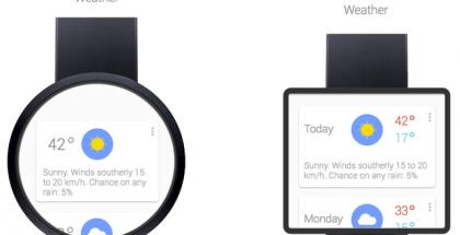 Kuvituskuvia, piirroksia Google Now'sta istutettuna kelloon