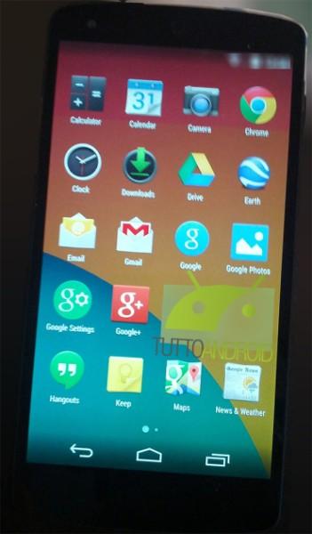 Android KitKatin sovellusvalikko