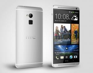HTC One Max edestä ja takaa