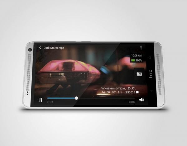 HTC One Max sivuttain
