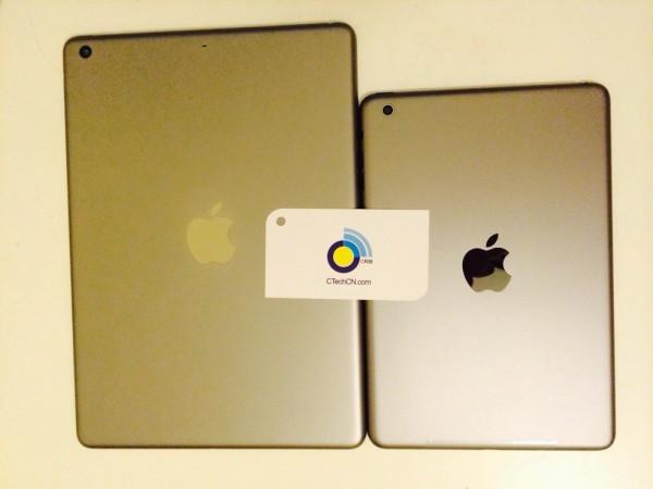 Kultaiset iPadin ja iPad minin kannet CTechCN:n kuvassa