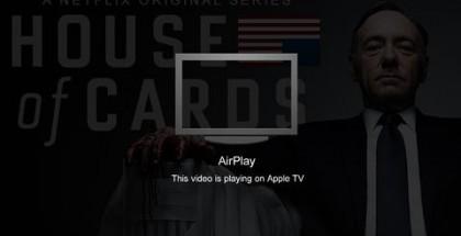 Netflixin iOS:n AirPlay-suoratoisto