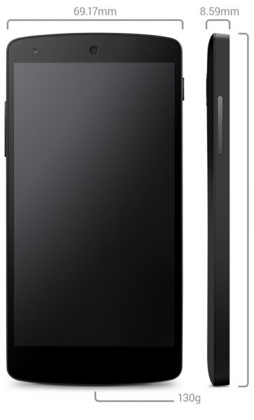 Nexus 5:n mitat