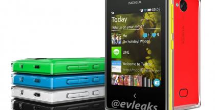Nokia Asha 503 @evleaksin vuotamassa lehdistökuvassa