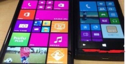 Nokia Lumia 1520 ja vanhempi Lumia aiemmin vuotaneessa Coolxapin vertailukuvassa