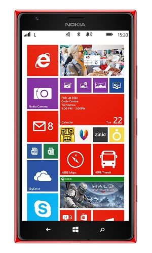 Nokia Lumia 1520 punaisena