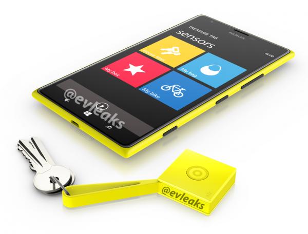 Nokia Lumia 1520 ja Treasure Tag @evleaksin julkaisemassa vuotokuvassa