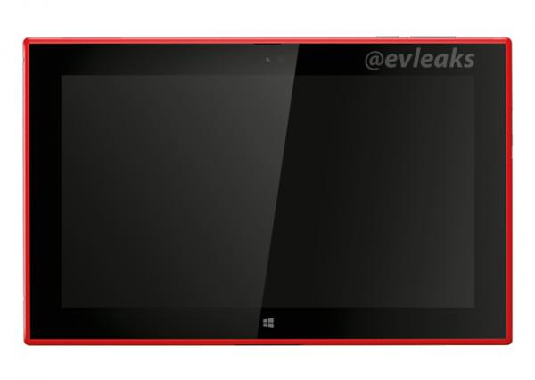 Nokia Lumia 2520 punaisena @evleaksin vuotamassa lehdistökuvassa