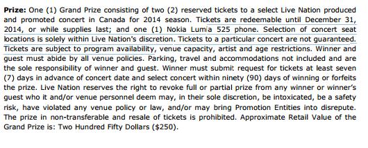 Nokia Lumia 525 palkintona