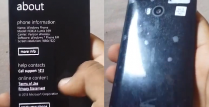 Kuvankaappauksia Nokia Lumia 929 -videolta