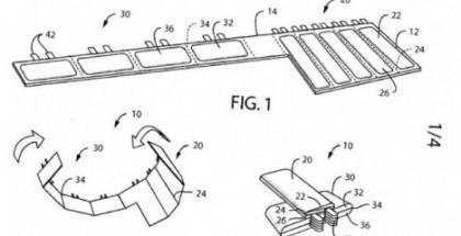 Nokian patenttihakemus taivuteltavasta akkuketjusta