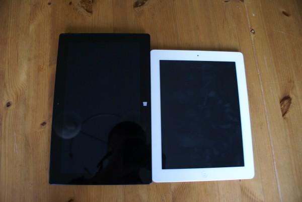 Microsoft Surface Pro 2 ja 4. sukupolven iPad