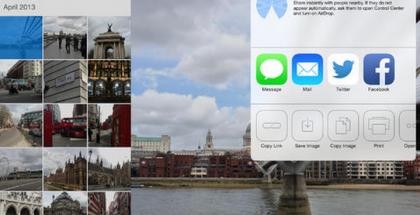 Dropbox iOS 7:n ilmeen mukaisena iPadissa - tukee AirDropia