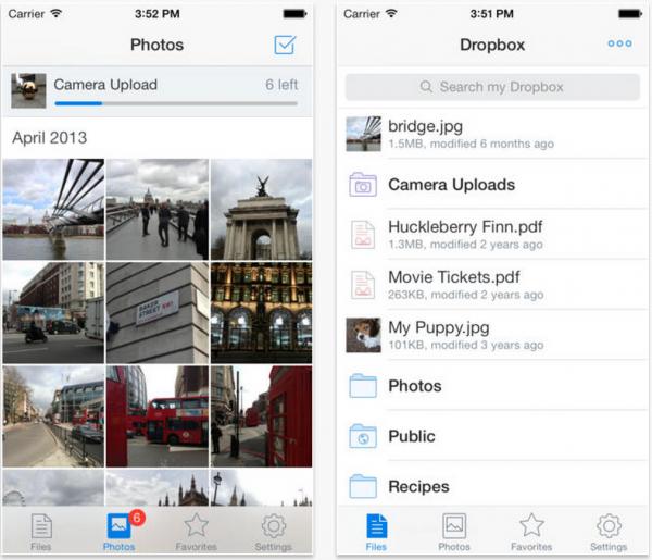 Dropbox 3.0 iOS 7:n mukaisella ilmeellä